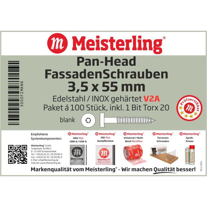 Meisterling® FassadenSchrauben 3,5 x 55 mm Pan-Head