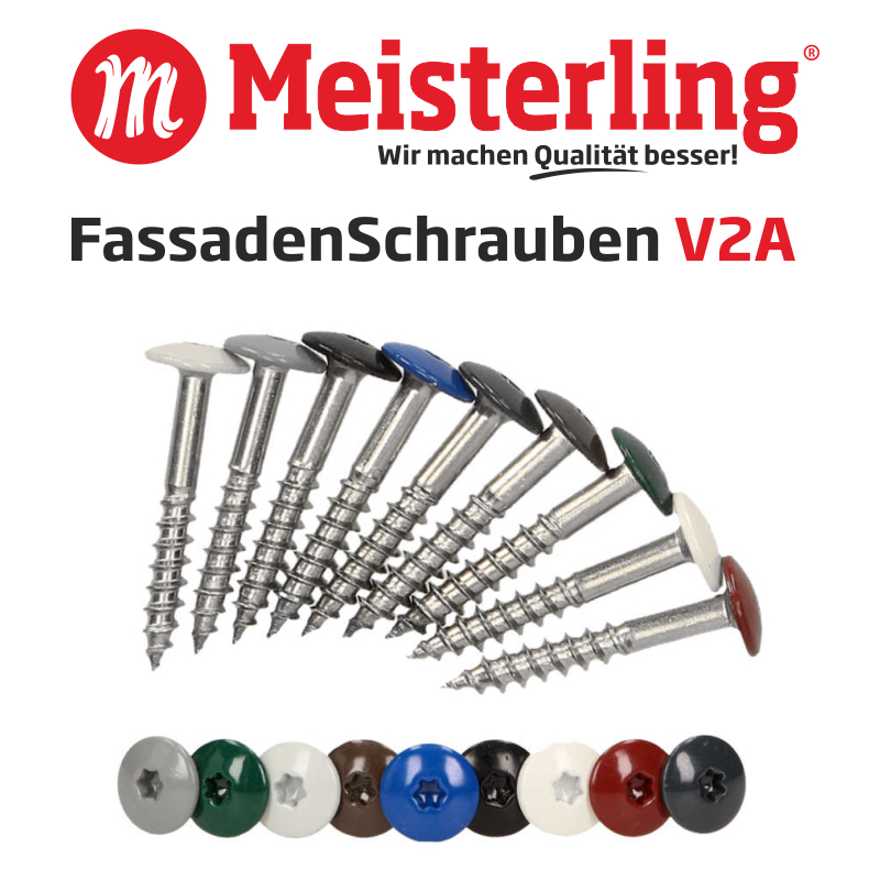 Meisterling® FassadenSchrauben V2A - 800x800 px