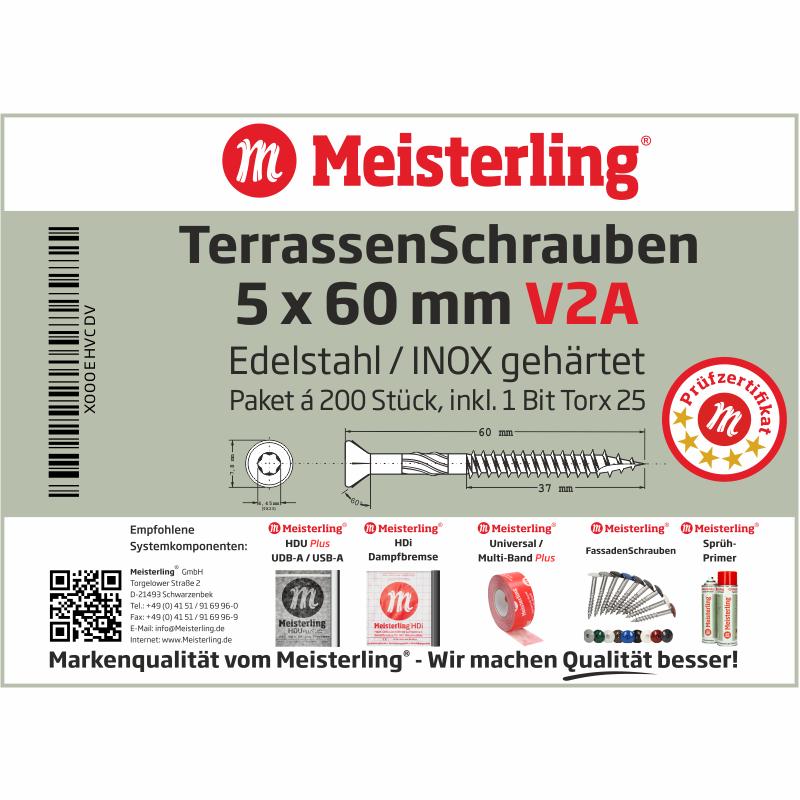 Meisterling® TerrassenSchrauben 5 x 60 mm V2A