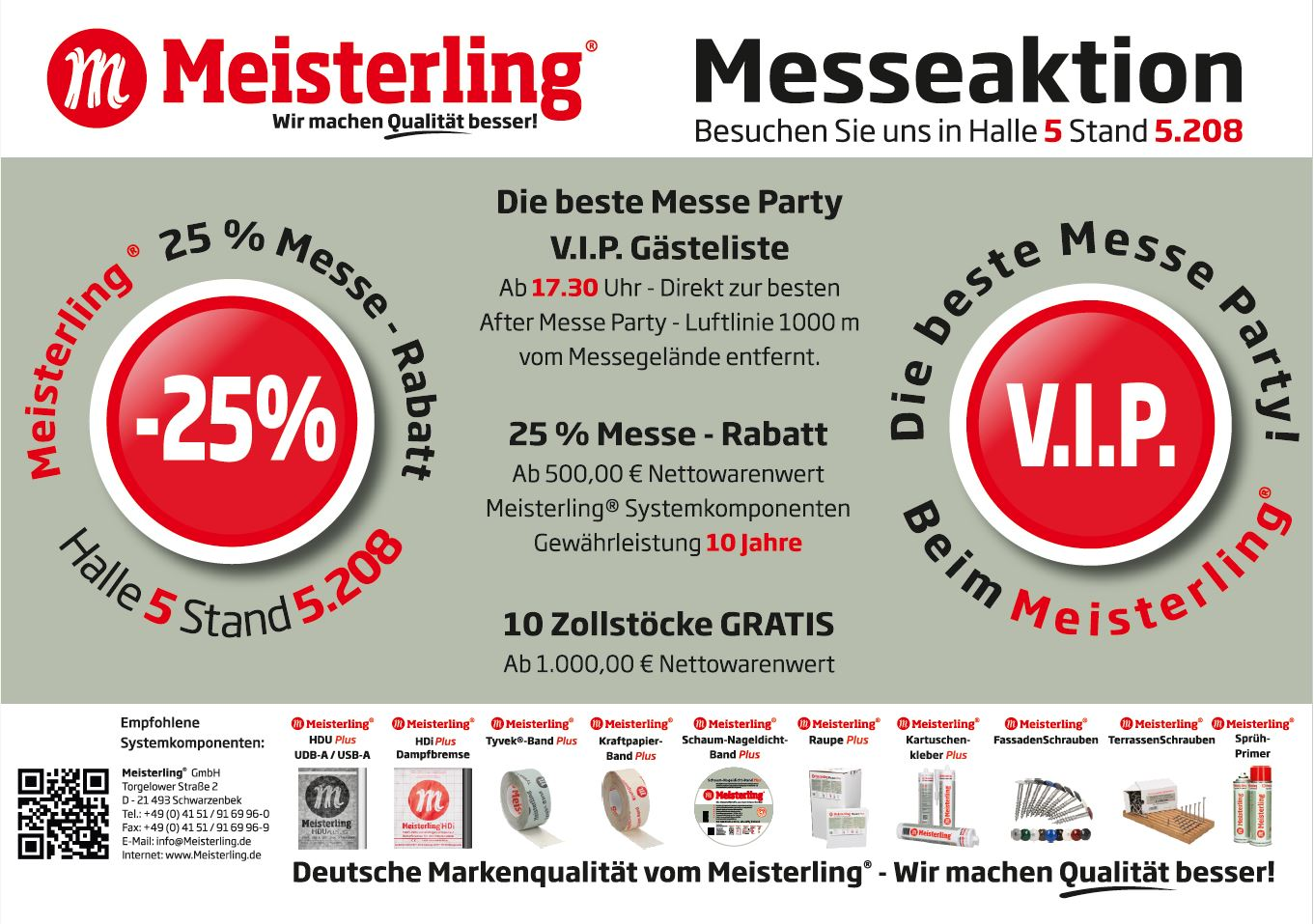 Die beste Messe Party - beim Meisterling®