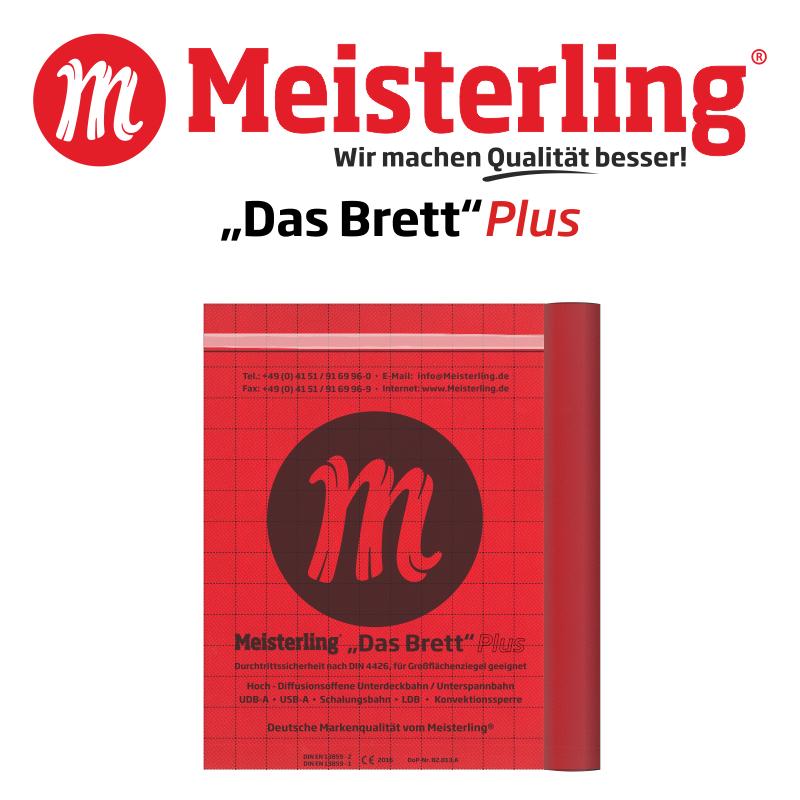 Meisterling® Das Brett Plus mit Logo und Schrift 800x800