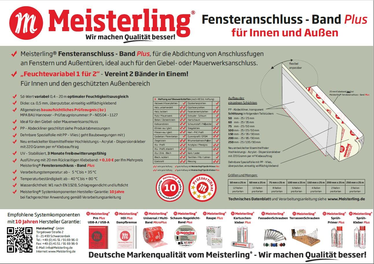 Meisterling® Fensteranschluss - Band PLUS