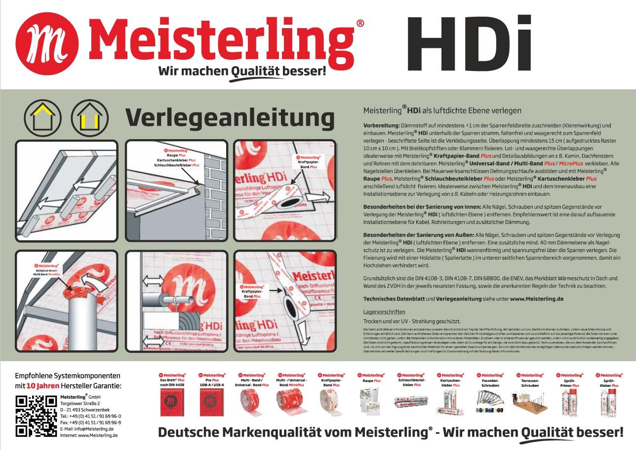 Meisterling® HDi Verlegeanleitung