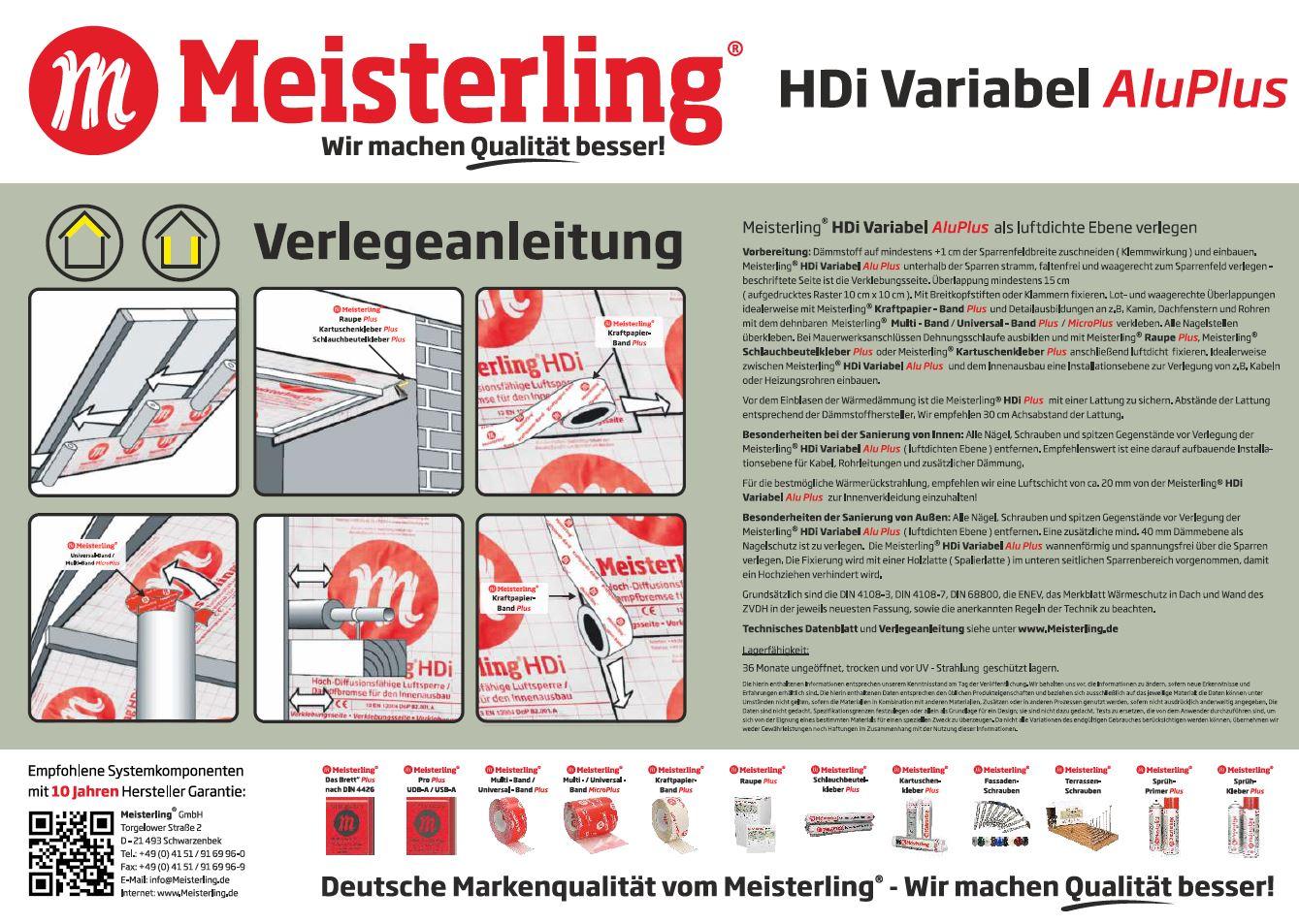 Meisterling® HDi Variabel Alu PLUS Verlegeanleitung