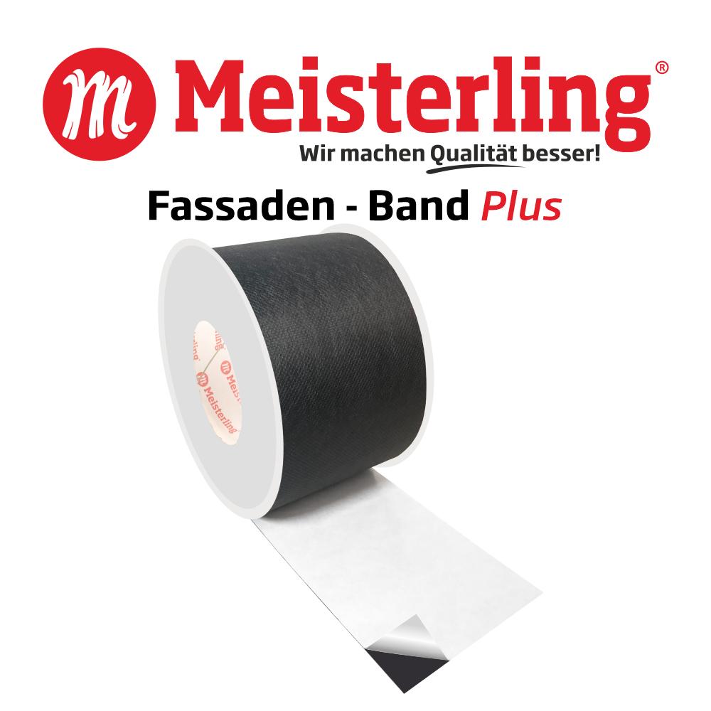 Meisterling Fassaden - Band PLUS 100 mm mit Logo und Schrift 1000x1000
