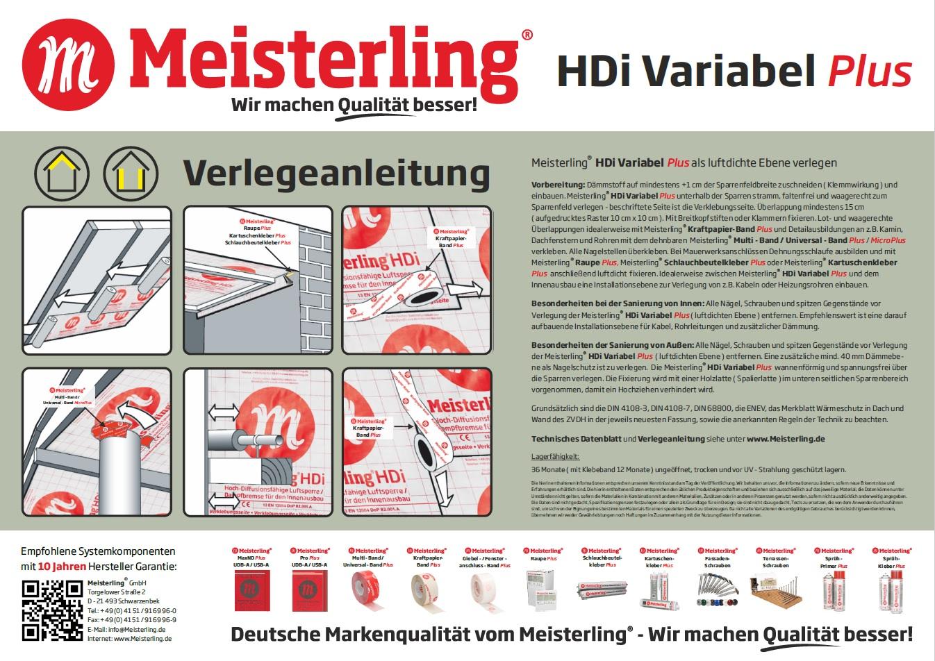 Meisterling® HDi Variabel PLUS Verlegeanleitung