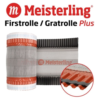 Gratrolle PLUS 350 mm First L/üfter Meisterling/® Firstrolle Grat Roll